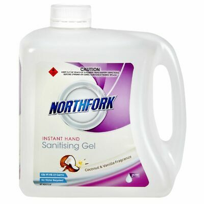 Northfork Hand Sanitiser Gel Coconut and Vanilla 2L
