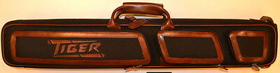 New Tiger Black Nylon, Brown Leather 2x4 Butterfly Case - FREE US SHIP