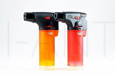 2x (Original) Eagle Jet Torch Gun Adjustable Windproof  Flame Refillable Lighter