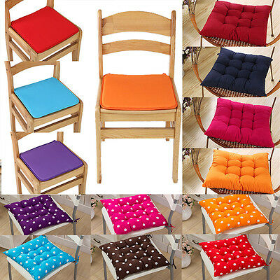 40*40cm Chair Cushion Seat Pad Tie On Garden Dining Office Square Home Decor