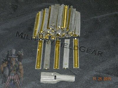 50 ct. Stripper Clips + 2 Charger/Loader Spoons 5.56 .223 GGG 10rd Once Used