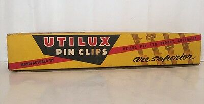 Utilux Pin Clips Sydney Australian Vintage Packaging Box Wih Contents