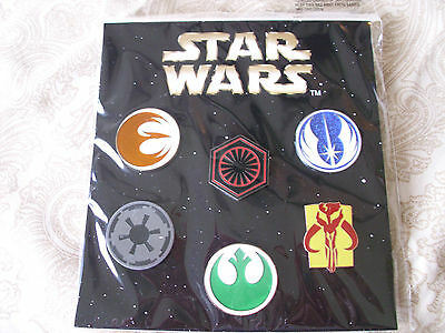 Disney * STAR WARS - EMBLEMS / BADGES * New 6 Pin Booster Set - New in Package