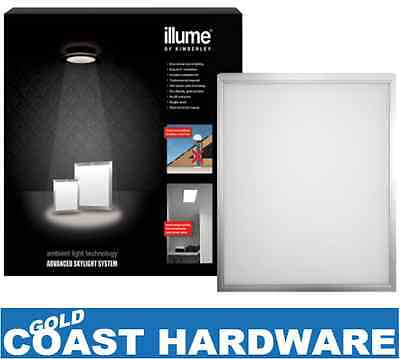 Illume Shaftless Skylight SOLAR POWERED SYSTEM 600MM SQUARE Silver