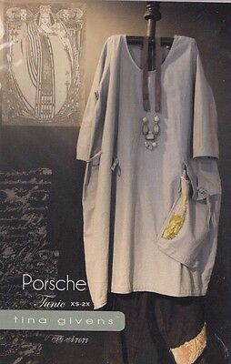 PATTERN - Porsche Tunic - women's sewing PATTERN from Tina Givens