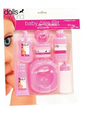 NEW Dolls World Baby Care Set from Mr Toys