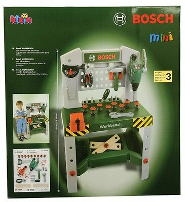 NEW Bosch Mini Deluxe Workbench from Mr Toys Toyworld