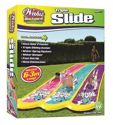 NEW Wahu Triple Slide 6.5m Long from Mr Toys Toyworld