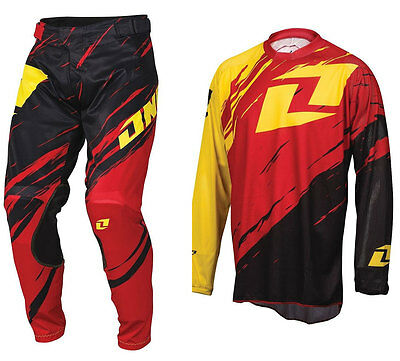 2016 ONE INDUSTRIES VAPOR LITE MOTOCROSS KIT SIDE SWIPE RED BLACK pants jersey