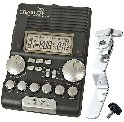 CHERUB WRW-106 Drum Metronom + Tama RWH10 Rhythm Watch Holder