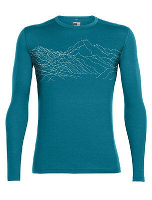 Icebreaker Oasis LS Crewe Topochartic Men, alpine/snow