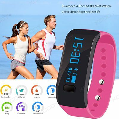 Smart Bracelet Watch Bluetooth Wristband Health Sport Fitness Tracker Waterproof