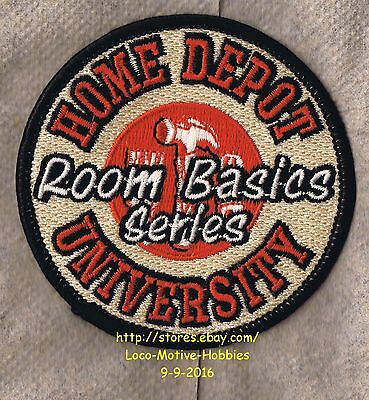 LMH PATCH Badge  HOME DEPOT University  ROOM BASICS SERIES  Home Enhancements