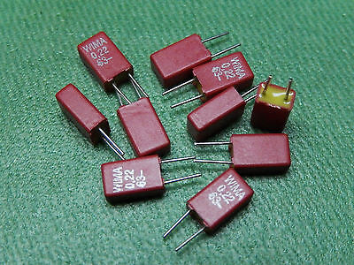 10x WIMA Capacitor MKS02 0.22µF 63V Pitch = 2.5mm