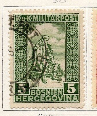 Bosnia Herzegovina 1916 Early Issue Fine Used 1h. 089445