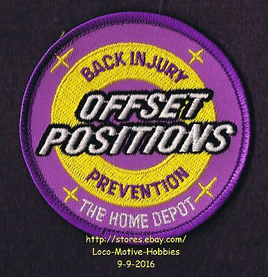 LMH PATCH Badge  HOME DEPOT  Back Injury Prevention  OFFSET POSITIONS Certified
