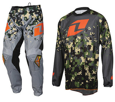 2016 ONE INDUSTRIES ATOM MOTOCROSS KIT DIGITAL CAMO CHARCOAL ORANGE pants jersey