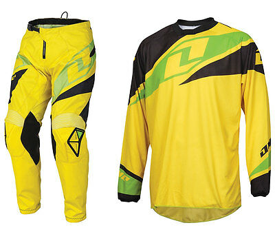 ONE INDUSTRIES ATOM MOTOCROSS MX KIT YELLOW enduro bike pants jersey