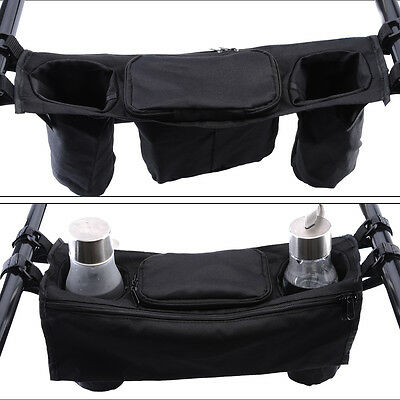 Unique Baby Stroller Organizer Cup Bags Carriage Pram Buggy Cart Bottle Holder