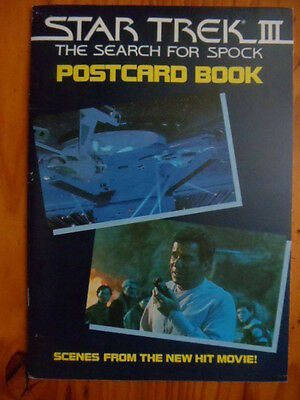 Star Trek III Search For Spock Postcard Book Klingons Admiral Kirk movie scenes