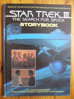 Star Trek III: The Search for Spock Storybook hardcover Paramount Pictures adapt