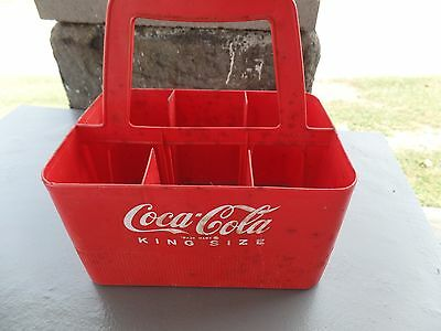 Vintage Coke Coca Cola Plastic King Size Bottle Holder Six Pack
