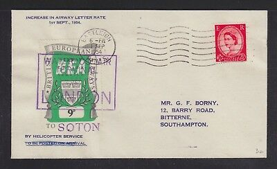 Uk 1954 Bea Helicopter Service Waterloo Air Terminal London Cover