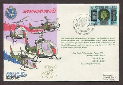 Uk 1977 Sparrowhalks Helicopter Cover Army Air Day Middle Wallop