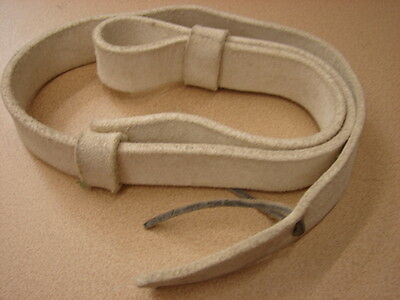 Original 1870s-WW1 British White Buff Leather Rifle Sling - Minty NOS