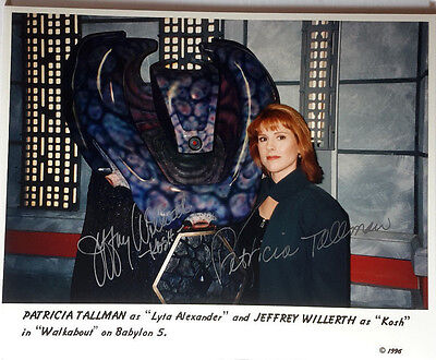 Babylon 5 Autograph 8x10 Photo signed by Tallman & Willerth-FREE S&H(LHAU-696)