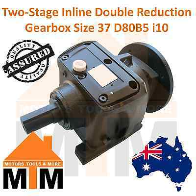 Type 2R37 Gearbox Helical Inline Gearbox Reducer i10 D80B5 Ratio 1:10 Reduction