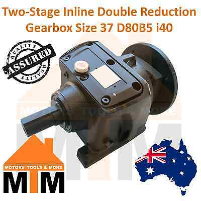 Type 2R37 Gearbox Helical Inline Gearbox Reducer i40 D80B5 Ratio 1:40 Reduction