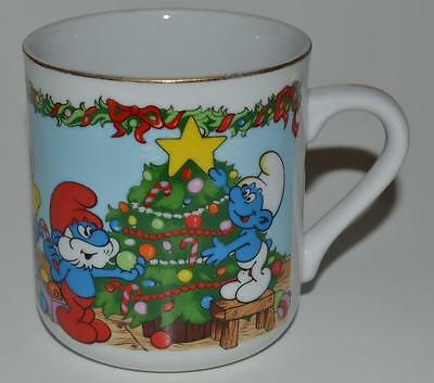 The Smurfs ~ Merry Christmas 1983 ~ Coffee Cup Mug ~ The Night Before Christmas