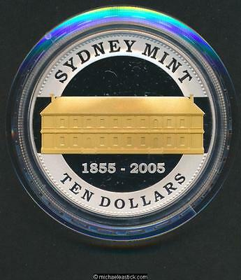 2005 Australia $10 Silver Proof Coin Sydney Mint Sesquicentary 1855-2005