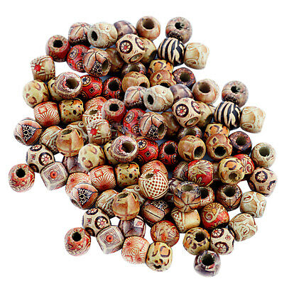 200 pcs 12mm Mixed Round Wooden Beads Jewelry Making Loose Spacer Charms Craft