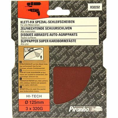30 Piranha X32232 125Mm Installation Rapide Disques Abrasives 320G 10 Paquets