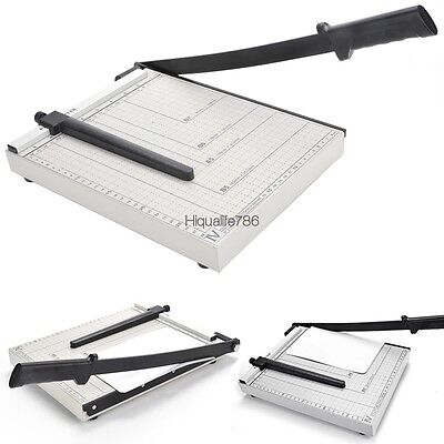 Adjustable A4 Paper Guillotine Cutter Trimmer Desktop Stack12 Sheet Capacity