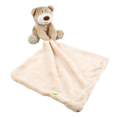 Baby Infant Bear Blanket Soft Coral Fleece Appease Towel Toys For Boy And Girl