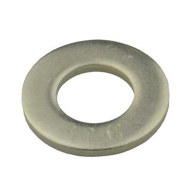 Qty 20 Flat Washer M16 (16mm) x 30mm x 3mm Metric DIN125 Marine Stainless 316 A4