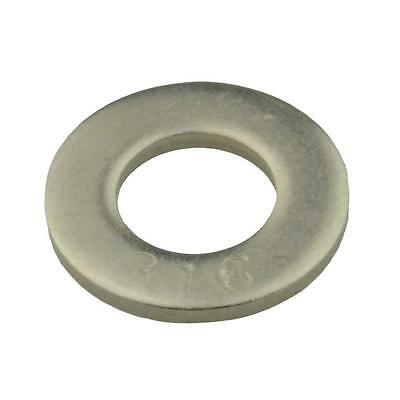 Qty 100 Flat Washer M8 (8mm) x 16mm x 1.6mm Metric DIN125 Marine Stainless 316