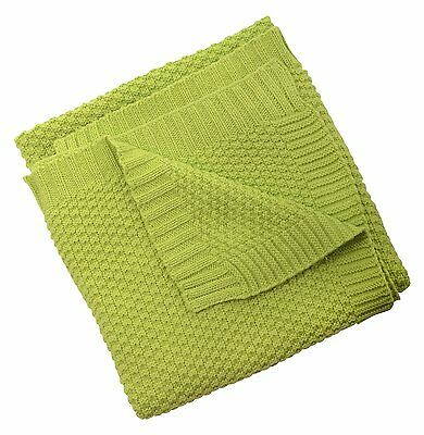 Silver Cloud Love Colour Cotton Blanket - Lime