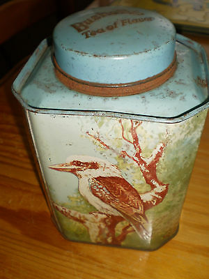 Vintage Bushells 1Lb Tea Tin Australian Animals