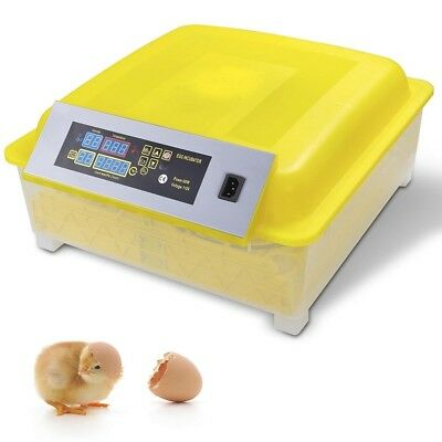 48 Egg Incubator Digital Auto Turner Chicken Poultry Bird Quail Clear Hatcher