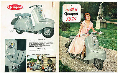 Ancienne Brochure Scooters Peugeot 1956