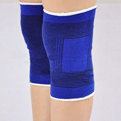 2 Knee Elastic Brace Muscle Support Sleeve Warm Arthritis Sports Pain Relief AU