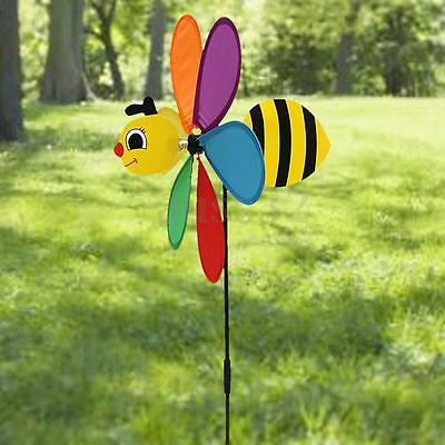 Plastic Animal Large Bee Windmill Wind Spinner For Garden Lawn Yard Decoration