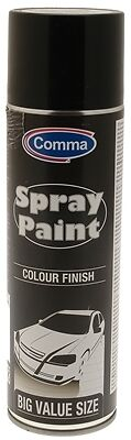 Comma BG500M Black Gloss Automotive Spray Paint 500ml New