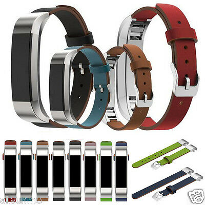 Replacement Luxury Genuine Leather Band Strap Bracelet For Fitbit Alta Tracker