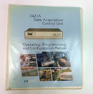 Hp 3421A Operating, Programming, And Configuration Manual For Daq / Control Unit