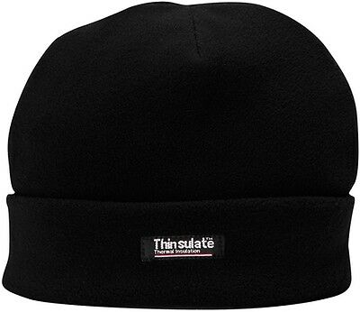 Thinsulate Lined Fleece Hat - Black Portwest HA10BKR New